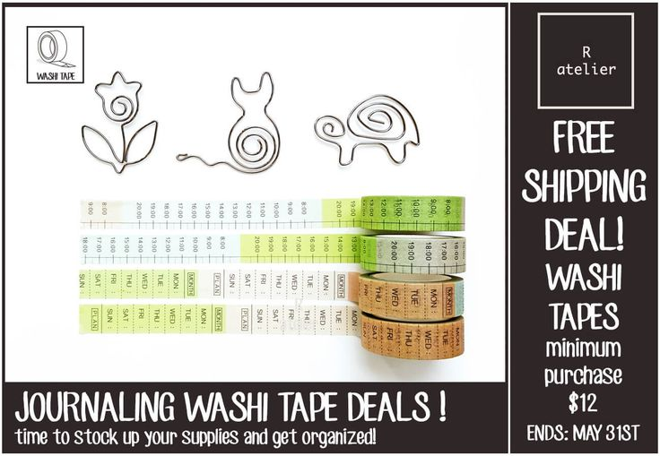 R.atelier FREE SHIPPING Washi Tape Deals!
