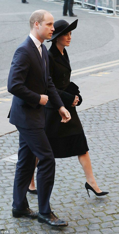 Prince William, Duke of Cambridge and Catherine, Duchess of Cambridge arrive for the memorial service of The Duke of Westminster at Chester Cathedral on November 28, 2016 in Chester, England.