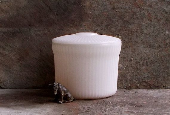 Vintage Milk Glass Jar  Breakstone Cottage by MyVintageVTCottage