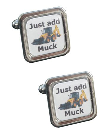 Just Add Muck - Digger Drivers Cufflinks - Toys for the Boys!!