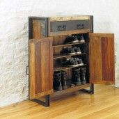 Urban Chic Shoe Storage Cupboard - Online Furniture World Shop