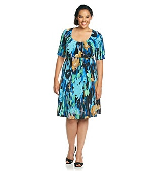 t tahari plus length dresses