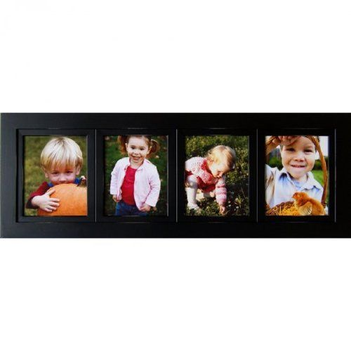 Collage Frames 4 Opening Black 4x6 Multi Photo Picture Frames Solid Wood HandDistressed *** To view further for this item, visit the image link.