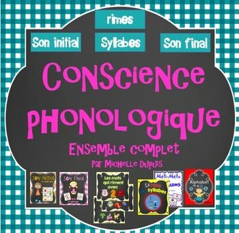 Ensemble complet sur la conscience phonologique: son initial, son final, rimes, syllabes et alphabet.