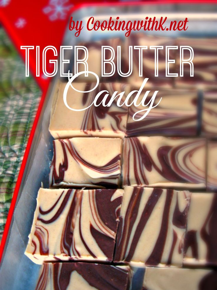 I love to make treats for Christmas and this Tiger Butter was perfect in my Christmas Gift Boxes this year.  Three ingredients is all the recipe calls for, almond bark, peanut butter, and semi-sweet chocolate chips.  So simple yet so yummy!   #christmascandy #fudge www.coookingwithk.net