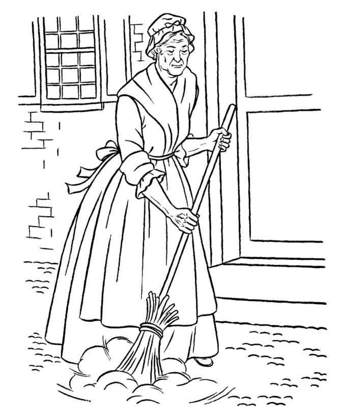 Free Printable Early American Life Coloring Pages Showing History Home Occupations And Culture
