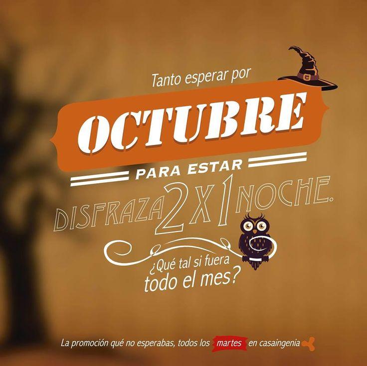 Tanto esperar para #Halloween y qué sea un solo día, no!. ¿Qué tal si fuera todo el mes?