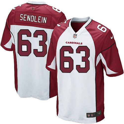 Limited Lyle Sendlein Youth Jersey - Arizona Cardinals 63 Road White Nike NFL