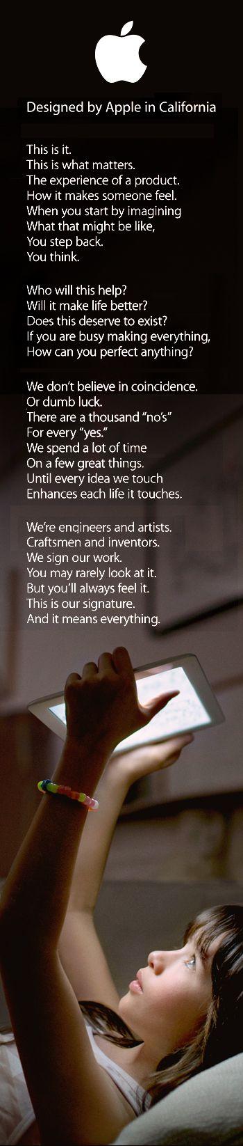 Apple - Designed by Apple in California - The post-Steve Jobs Apple brand manifesto