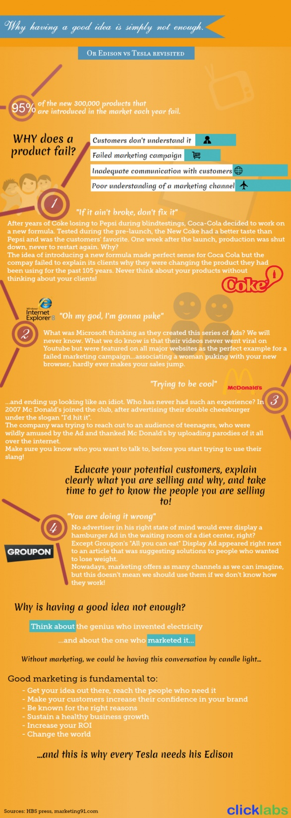 Infographic on epic marketing failures!
