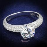 A Perfect 1CT Round Diamond Cut Russian Lab Diamond Ring