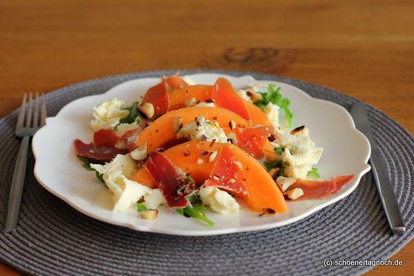 Rucola-Melonen-Salat mit Mozzarella