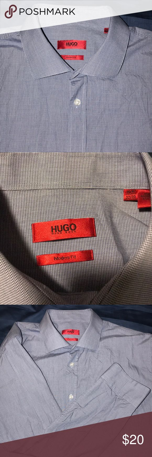 Hugo Boss dress shirt Hugo Boss dress shirt . Never used just washed . Modern Fit  size 18/41- 32/33 Hugo Boss Shirts Dress Shirts