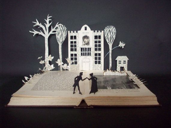 :: This was commissioned for a lover of the incredible play Arcadia by Tom Stoppard... an example of the perfect book lovers gift ::