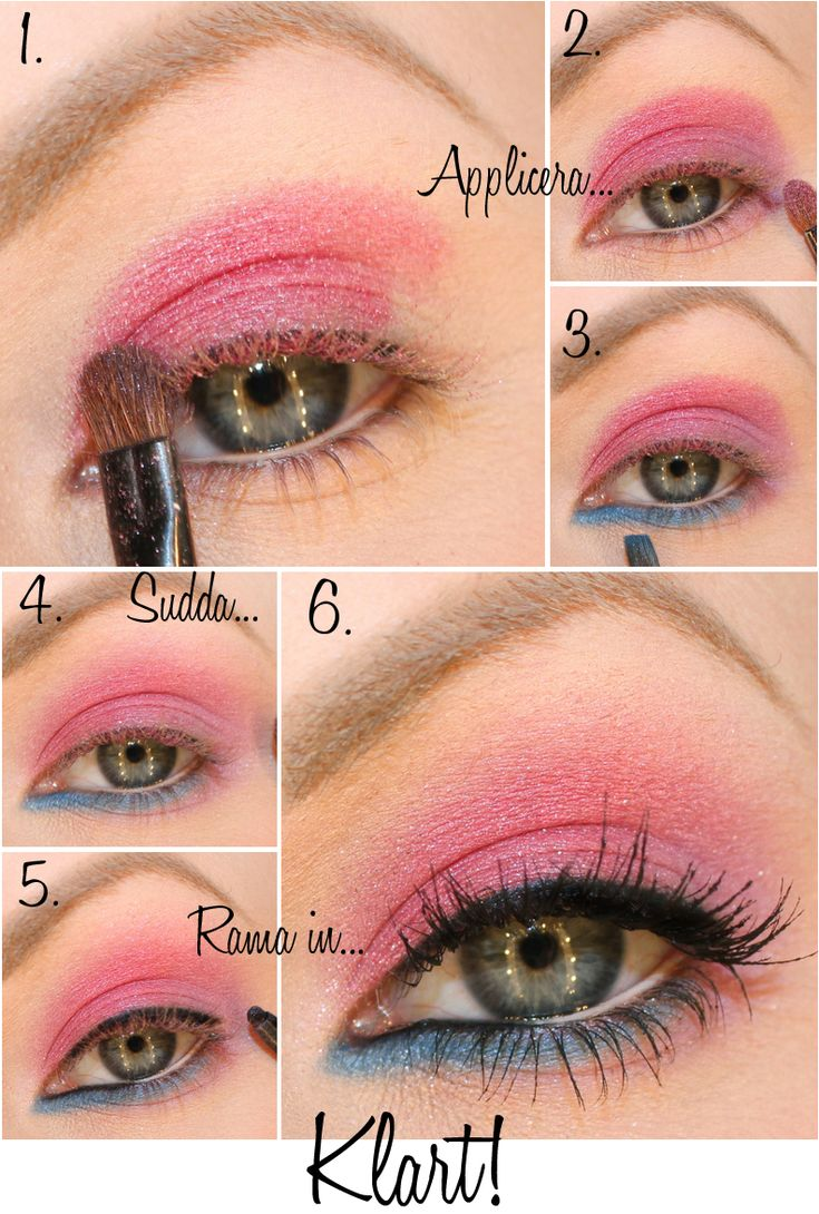 Tutorial de maquillaje de color rosa y azul | Hair and ...