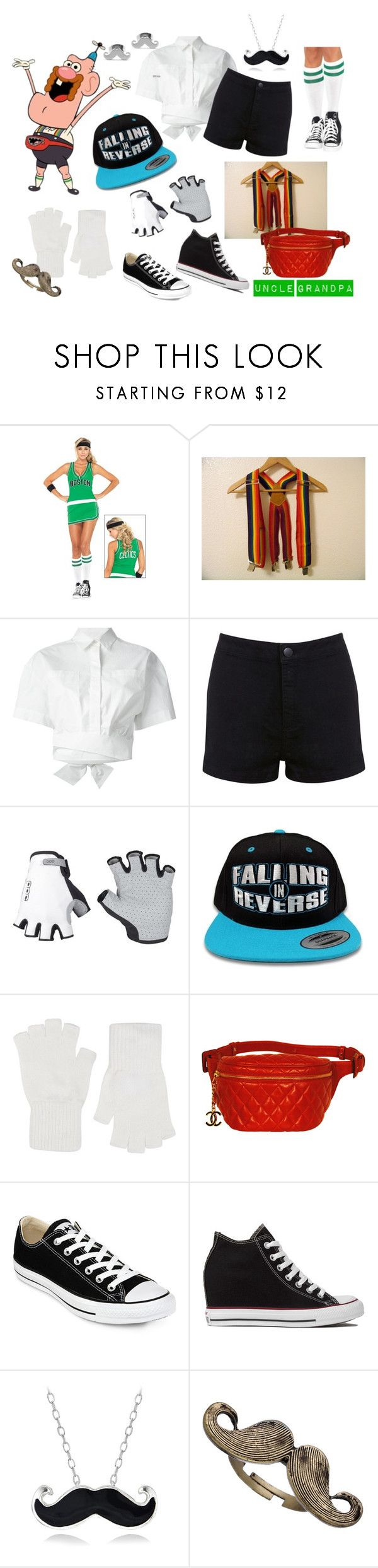 """It's YOUR Uncle Grandpa! :D"" by theartfart ❤ liked on Polyvore featuring Retrò, MSGM, Miss Selfridge, Harrods, Chanel, Converse, Mondevio, Blu Bijoux and West Coast Jewelry"