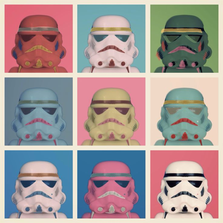 Andy Warhol Stormtrooper Tribute Star Wars Homage