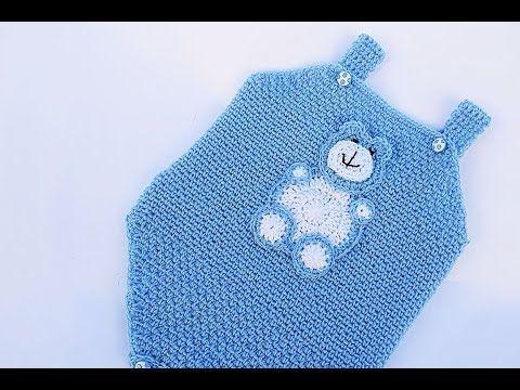 (8) Pelele , body o enterizo a crochet muy fácil y rápido - YouTube