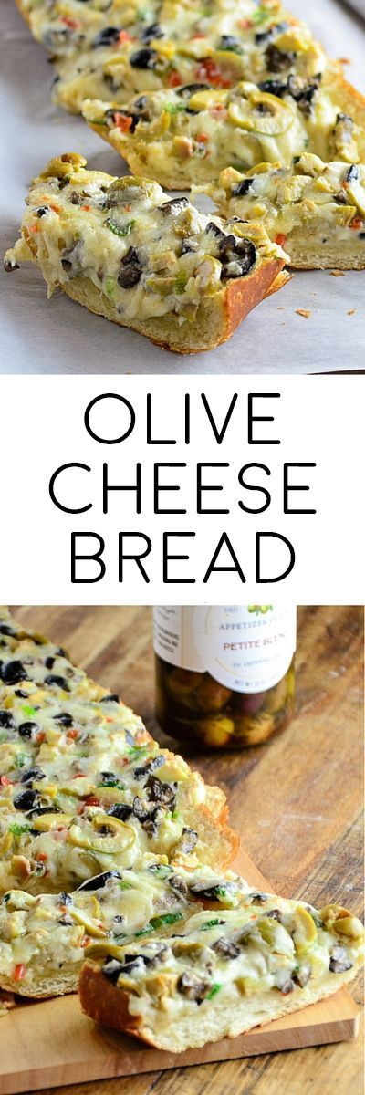 Olive Cheese Bread Appetizer! Try making with Jimmy John's Day Old French Bread!