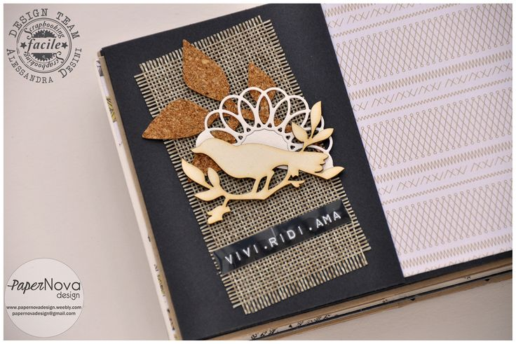PaperNova Design - Blog mini album, tag, chipboard, cork, wood