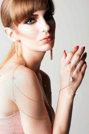 Elegant, artisanal hand chains and body chains from House of Juneberry. www.houseofjuneberry.com