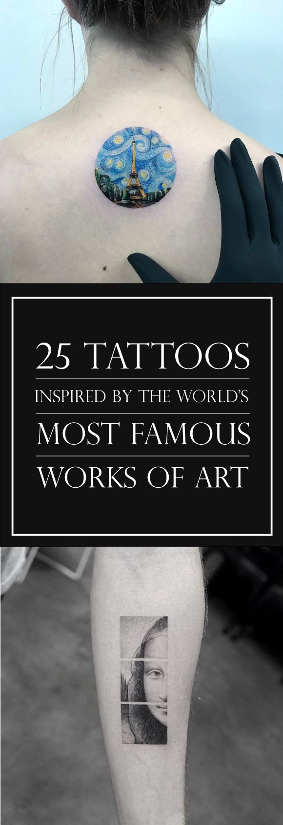 25 Tattoos Inspired by The World's Most Famous Works of Art