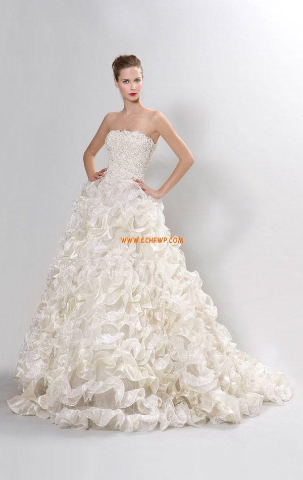 Princesse Traîne moyenne Sans bretelles Robes de mariée 2014