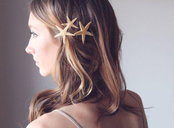 SANDY - Starfish Pins, Destination Wedding Accessories, Starfish Hair Accessories, Beach Hair Accessories, Mermaid Hair Accessories via Etsy