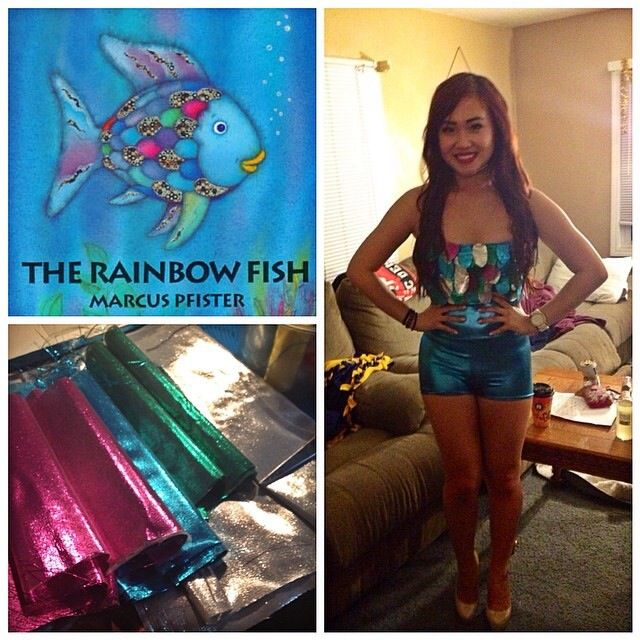 Rainbow Fish costume DIY