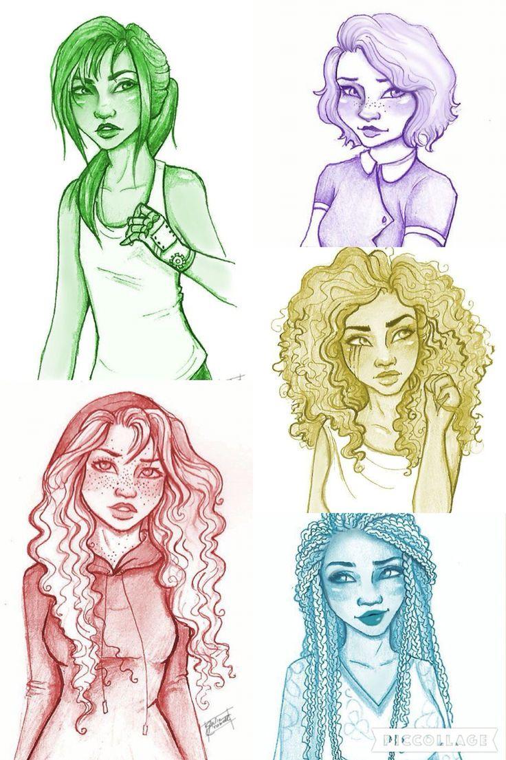 Cinder, Scarlet, Cress, Winter, and Iko!