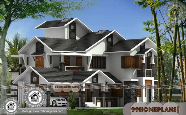 Luxury Modern House Plans 75 Indian House Designs Double Floor Kerala House Design Modern House Plans Modern Bungalow House Plans