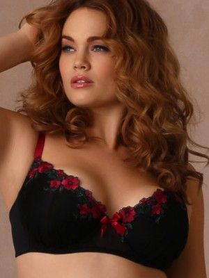 Dare to be demi! Our Aubrey Embroidered Demi Bra has an open, low cut design and underwire cups. The soft lace overlay cPrice - $42.95-HhoUdSDR