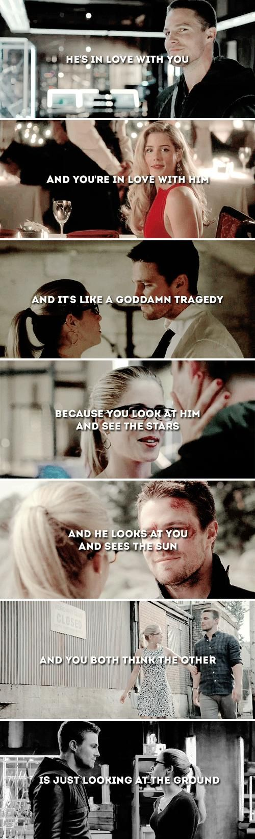 Oliver and Felicity #Olicity <3... man i really so want a relationship like this one :)