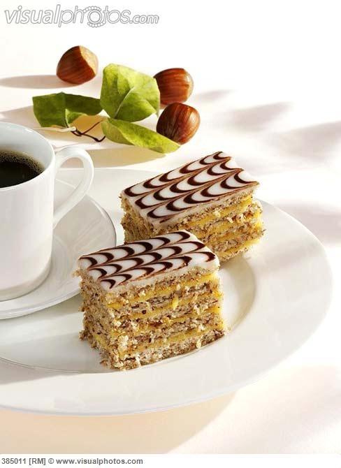 Esterhazy #cake slices with coffee