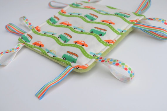 Baby Tag Toy  Crinkle Baby Toy  Baby Taggie  Baby by BirdieAndDot, $8.00