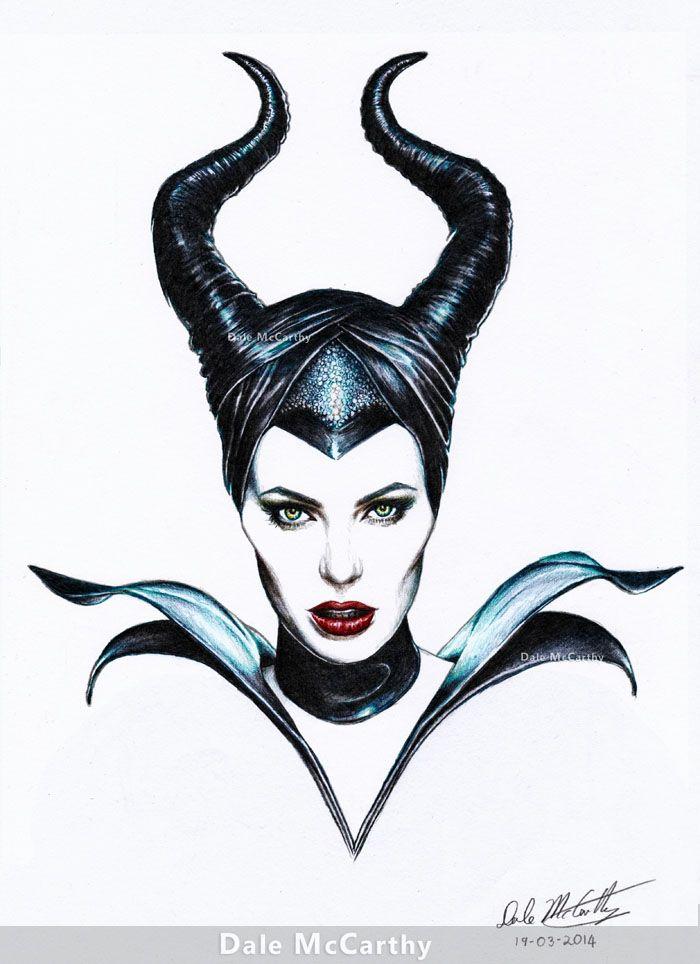 Maleficent drawing | Beautiful traits | Pinterest | Horns ...