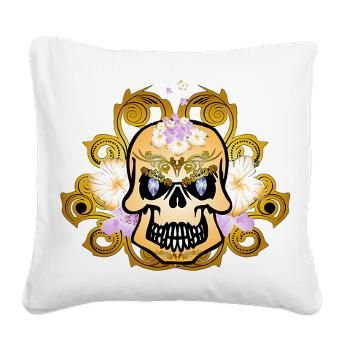 Fantasytic #skull Square #Canvas #Pillow > Fantastic skull > dreamworld