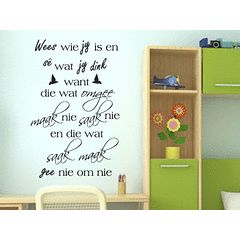 Saak Maak Afrikaans wall quote Vinyl Wall Art Quote Sticker Decal Vinyl Interior Decor for R149.99