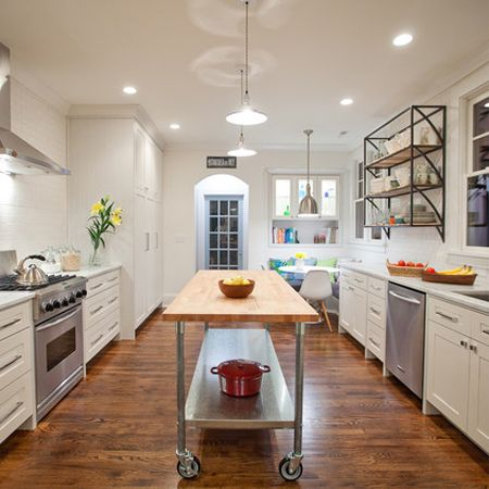 Diy Timber Wood Breakfast Bar Kitchen Counter Island Table Stainless Steel