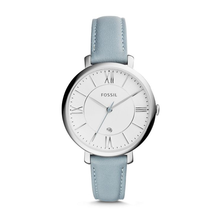 Fossil Jacqueline Three-Hand Leather Watch - Blue, ES3821| FOSSIL® New Arrivals