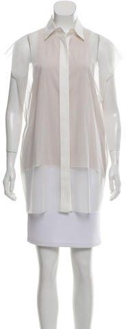 Vera Wang Sheer Sleeveless Blouse w/ Tags