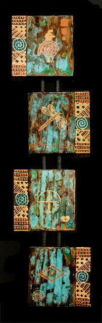 "Where ART Lives Gallery Artists Group Blog: Contemporary Mixed Media Art, Quadruvium Painting ""Quadruvium CLXX"" by Arizona Artist Pat Stacy"
