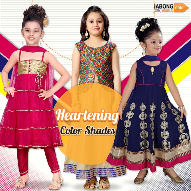 Want to see such smile on your child's face? Then follow this link http://www.jabongworld.com/kids/girls/suit-set.html?utm_source=ViralCurryOrganic&utm_medium=Pinterest&utm_campaign=SuitSet-03-june2015 to explore such designs and buy!