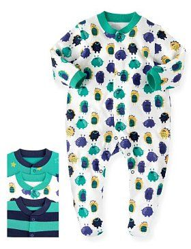 Marks ans Spencer. 3 sleepsuits.