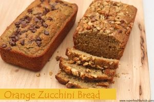 Orange Zucchini Bread Makeover - less sugar and oil and added fruit!  Plus it tastes amazing. You and your kids will love it!