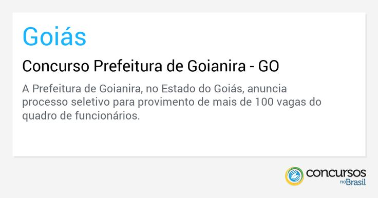 Concurso Prefeitura de Goianira - GO - https://anoticiadodia.com/concurso-prefeitura-de-goianira-go/