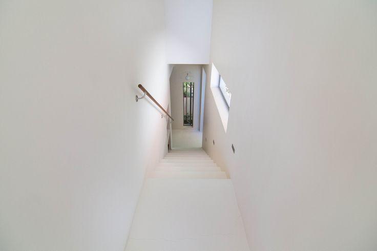 Beautiful white minimalist stair