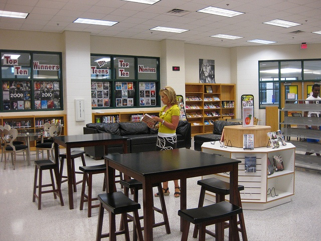 Mrs Frost Browsing The Peach Books School Library Design And