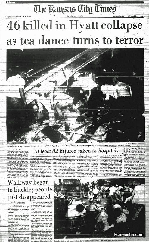 Old Newspapers: Hyatt Regency Disaster | Kansas City With The Russian Accent