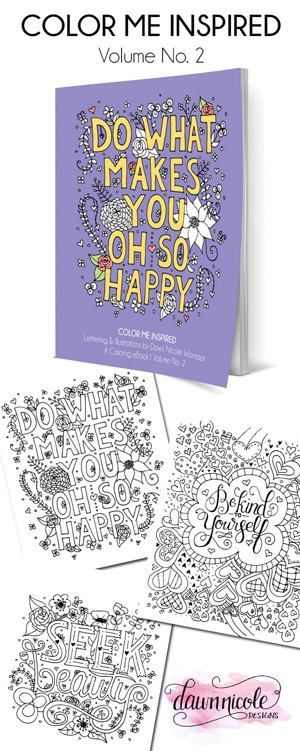 The coloring book e book - Color Me Inspired Volume 2